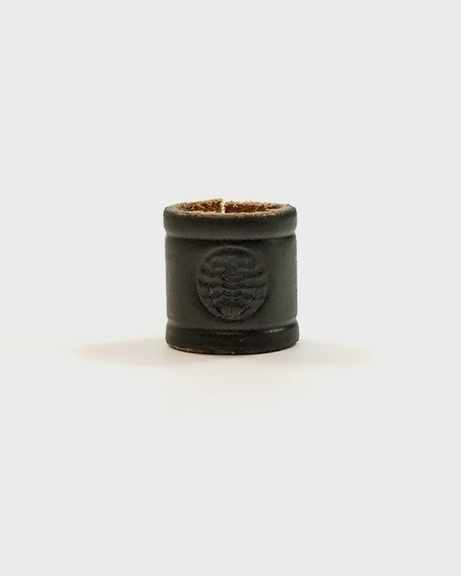 Embossed Leather Black Cuff