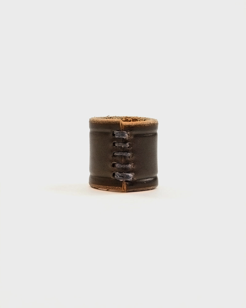 Embossed Leather Brown Cuff