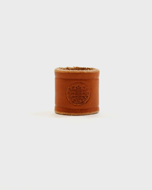 Embossed Leather Tan Cuff