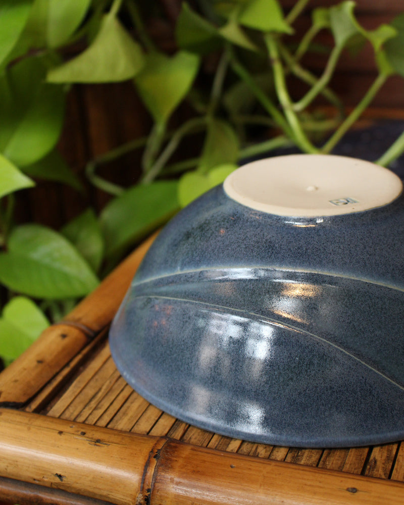 Kelly Pottery, Indigo, Etched Bowl