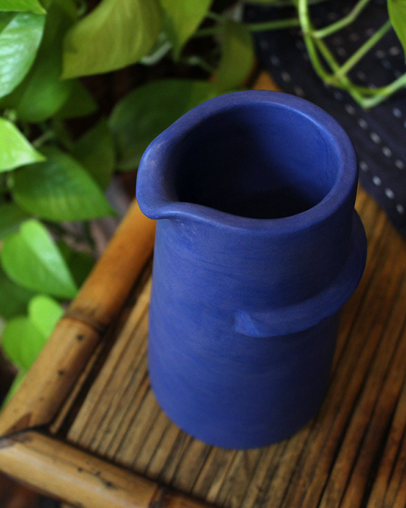 Little Garage Shop, Ridge Pitcher, Blue