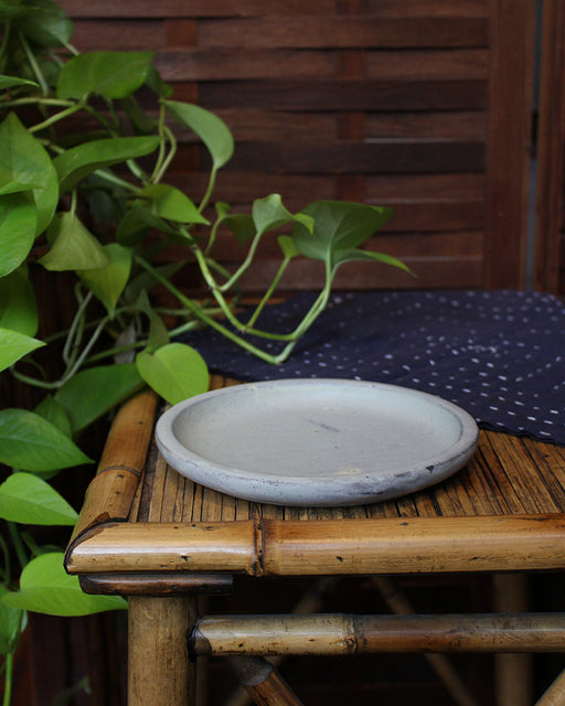 Little Garage Shop, Habitual Salad Plate, Light Grey