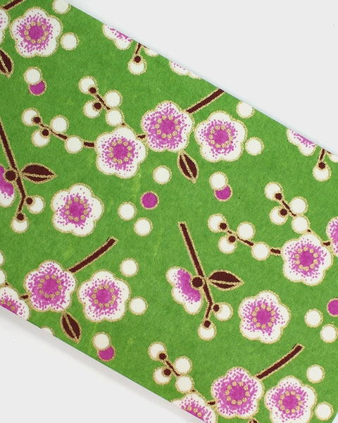 Memo Pad, Green with Plum