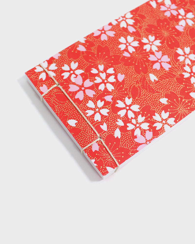 Memo Pad, Red, Pink, White & Gold Sakura
