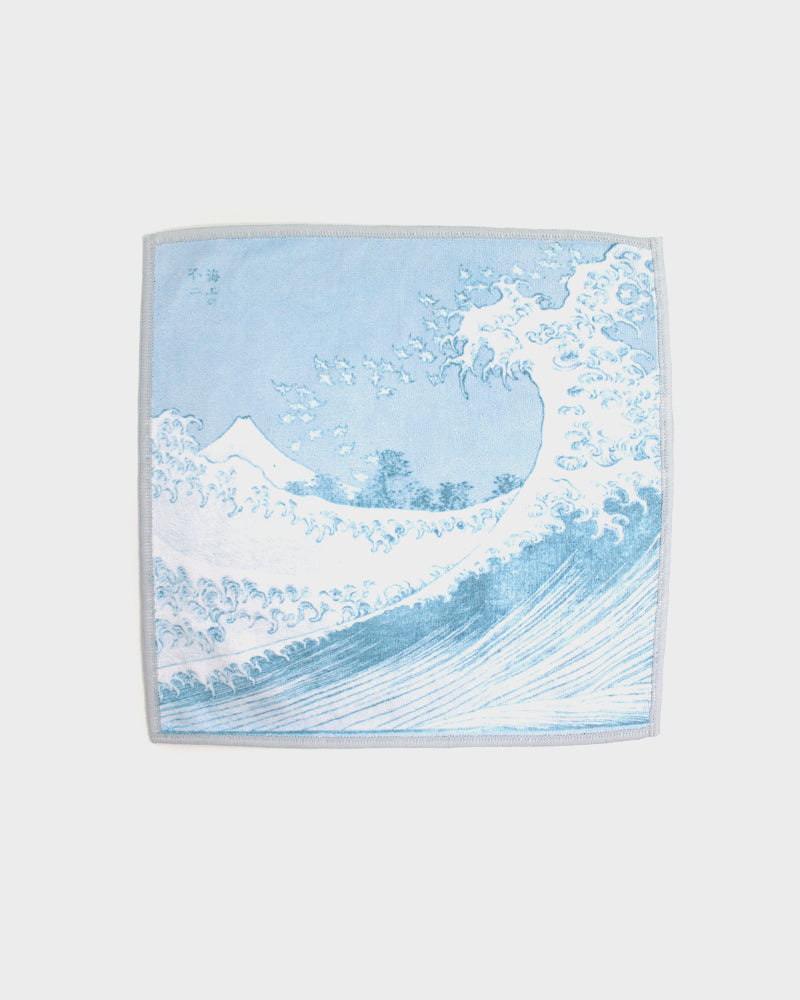 Double Sided Microfiber Handkerchief, The Great Wave off Kanagawa by Hokusai