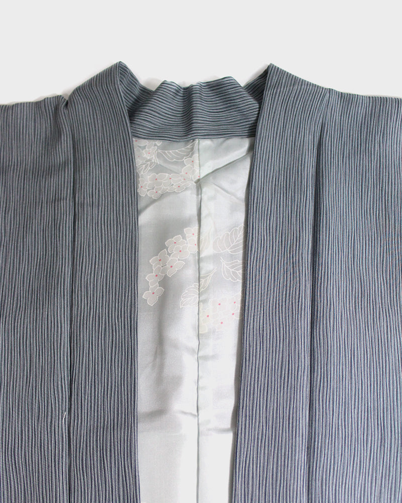 Modern Cut Haori Jacket, Light Blue Thin Shima