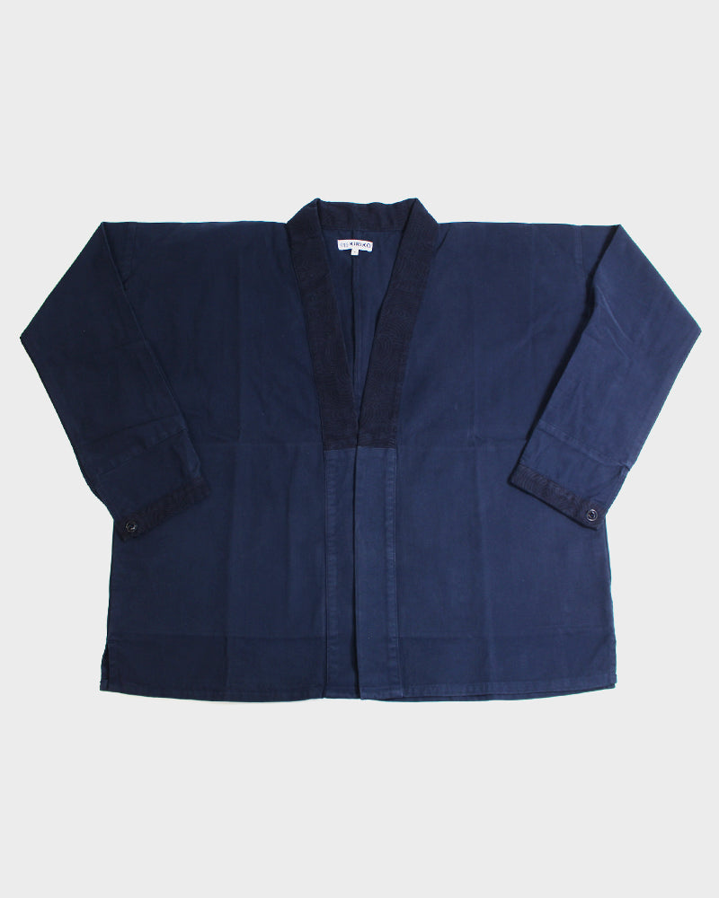 Modern Noragi Jacket, Brushed Twill Indigo Nami