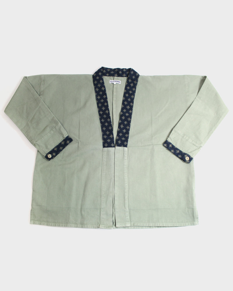 Modern Noragi Jacket, Brushed Twill Fern Igeta