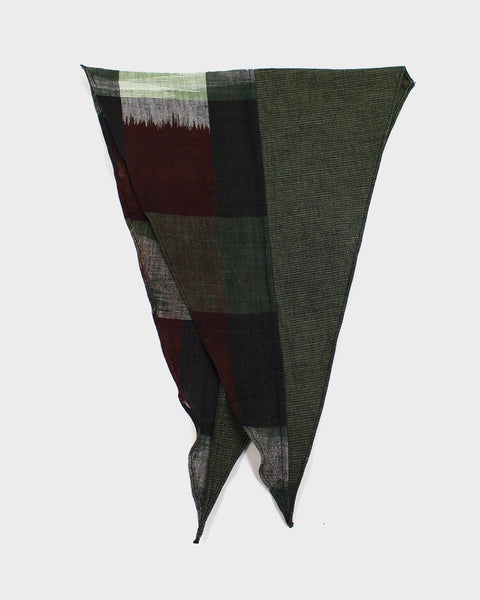 Split Neckerchief, Green and Kasuri