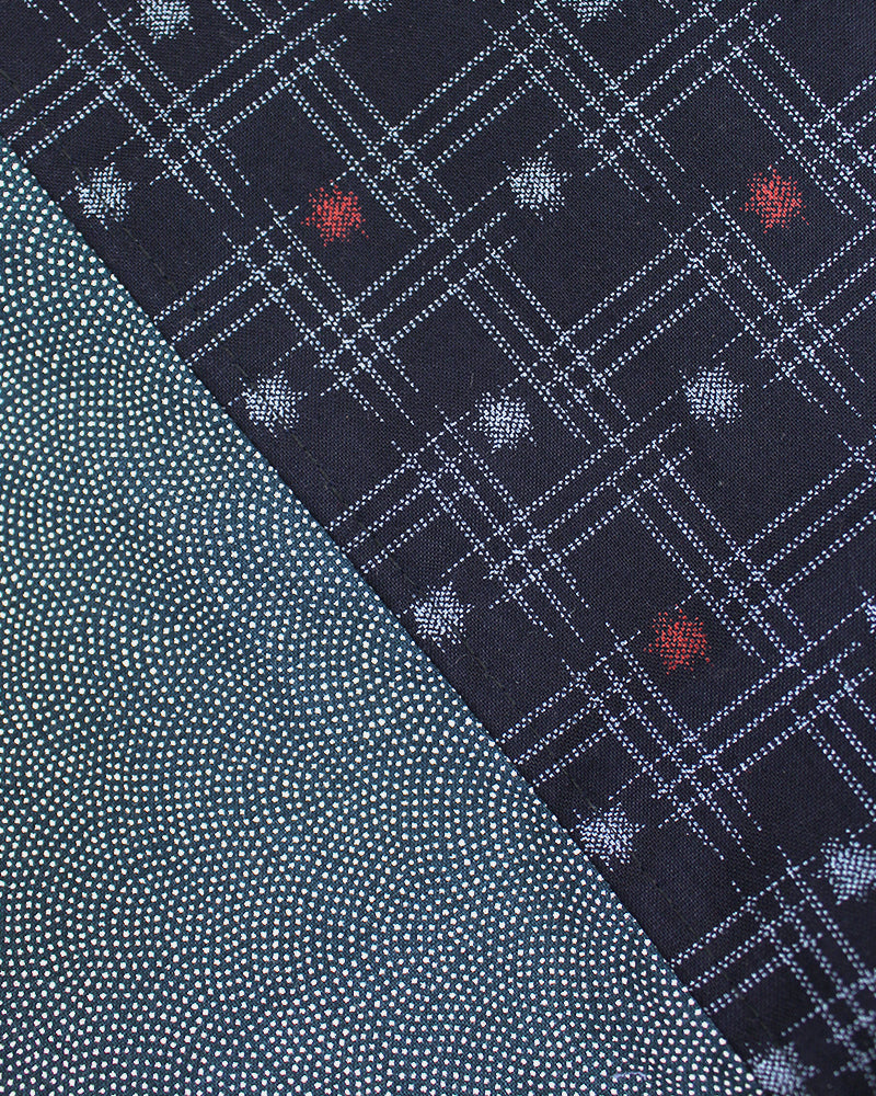 Split Neckerchief, Indigo, Komon and Igeta