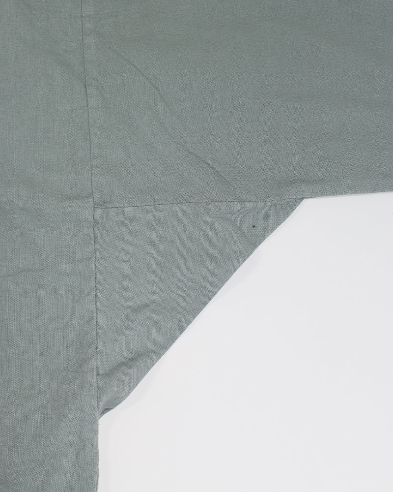 Modern Noragi Jacket, Linen Cotton, Fern with Sakura