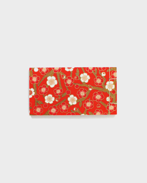 Memo Pad, Red With White Ume