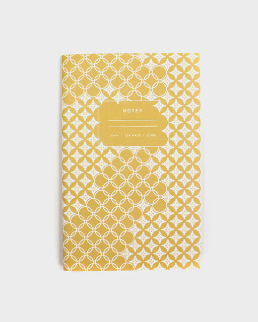 Grid Notebook, Yellow Shippou