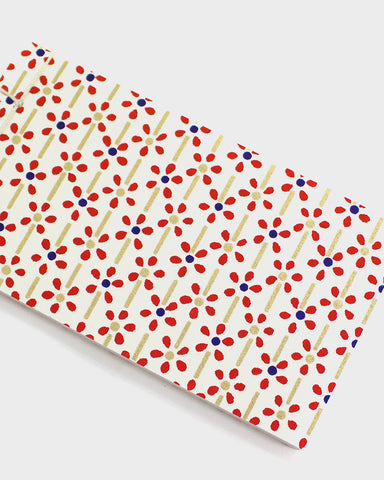 Memo Pad, Small Red Flowers