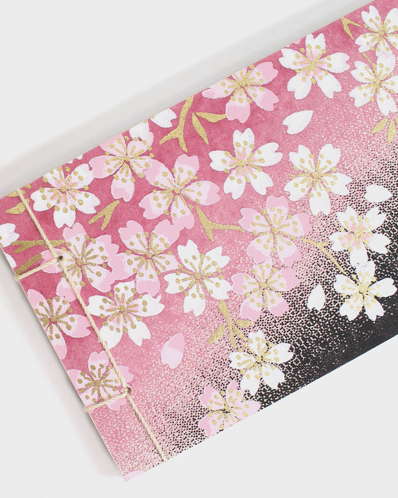 Memo Pad, Pink, Gold and Black Sakura
