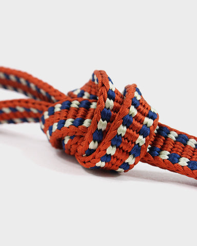 Vintage Obijime Belt, Red Orange, Blue and White