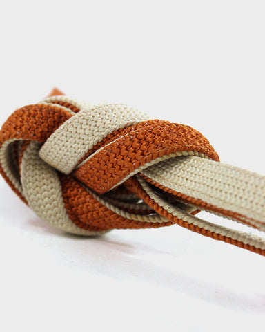 Vintage Obijime Belt, Natural and Orange