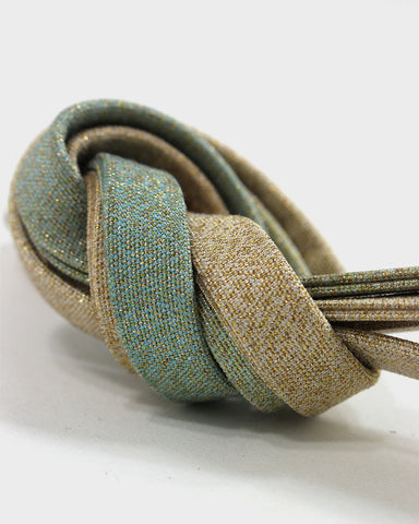 Vintage Obijime Belt, Blue and Gold Fade