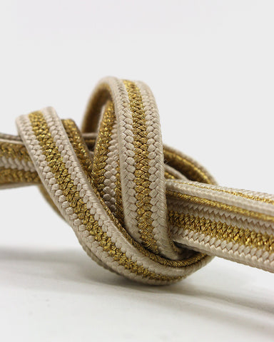 Vintage Obijime Belt, Natural with Gold Stripe
