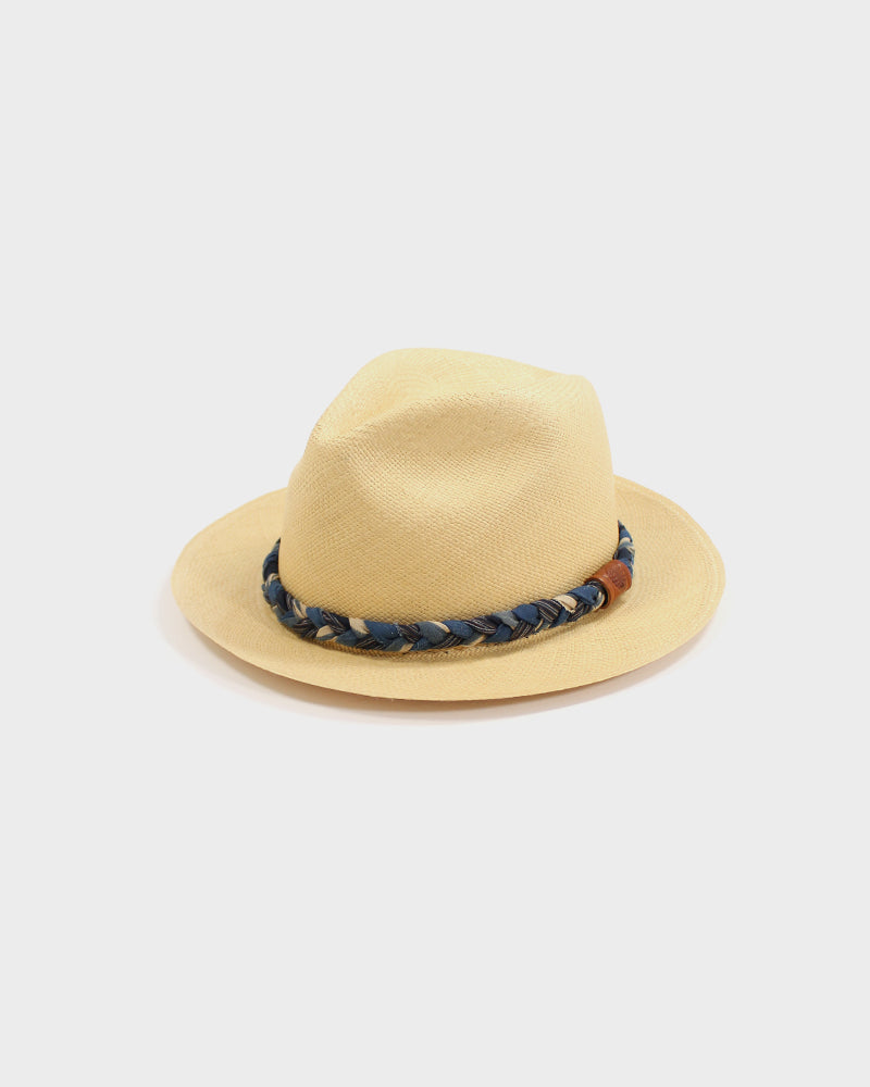 Panama Hat, Vintage Indigo and Shima Braided Band