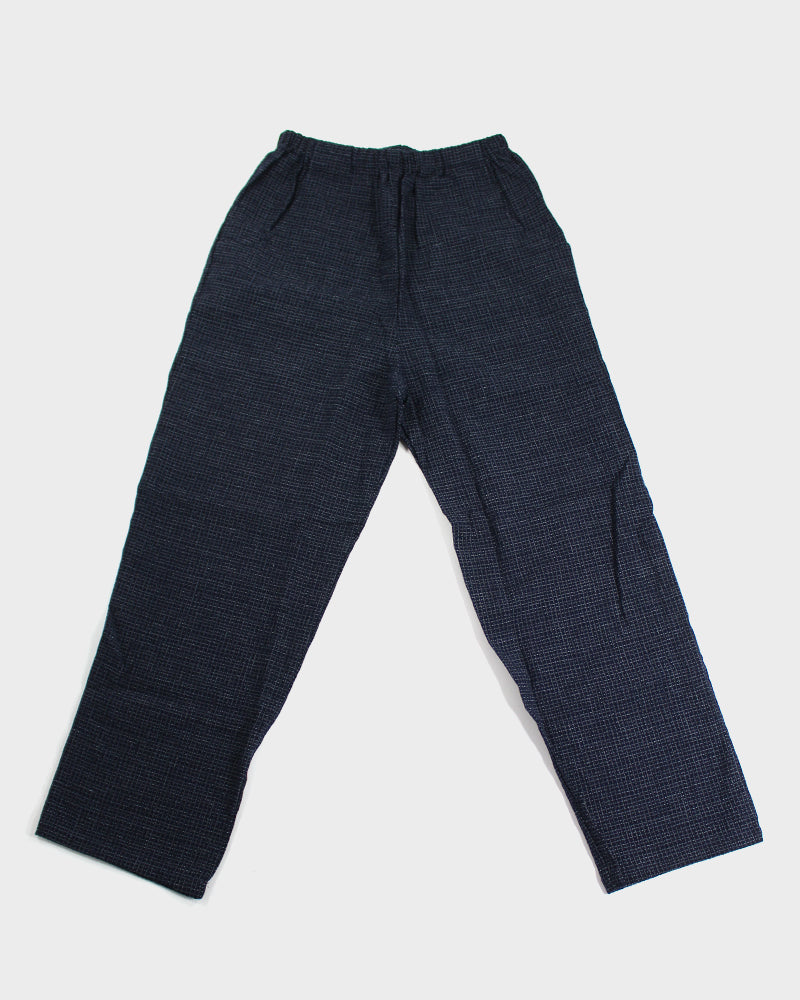 Kasuri-Ori Pants, Midnight Cross