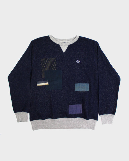Patchwork Navy Sweatshirt 03