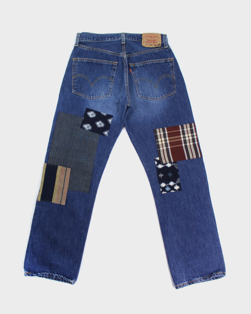 Leviʻs Vintage Denim, Plaid and Shima Browns and Reds