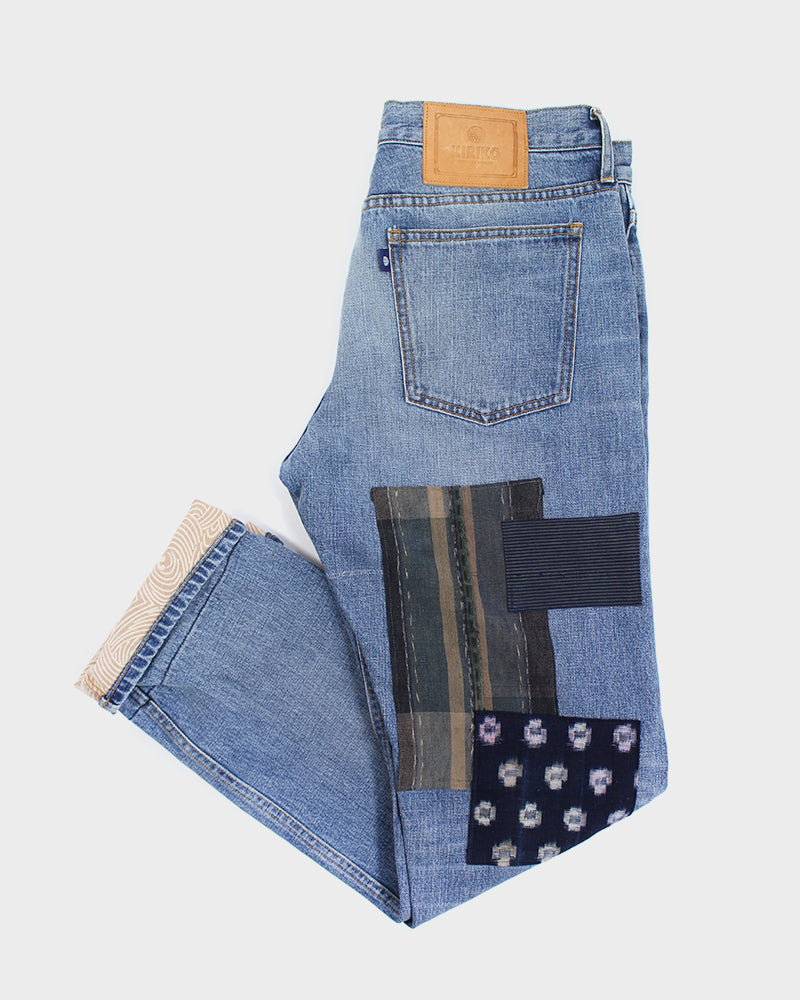 Premium Selvedge Denim Vintage-Wash, Nami, Boro, Indigo Shima, Plaid and Kiku