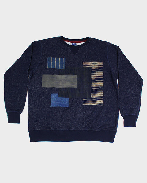 Patchwork Navy Sweatshirt 01
