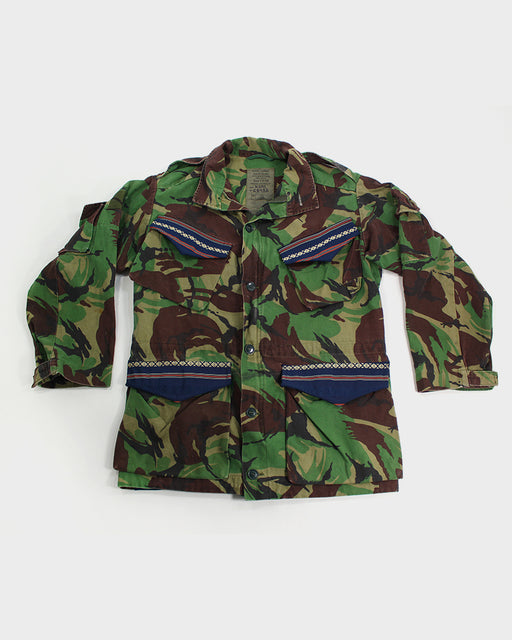 3728825c94c One of a Kind Patched Vintage Camouflage Jacket
