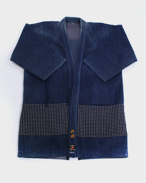 Patched Kendo Jacket with Sashiko, 15 (M and L)