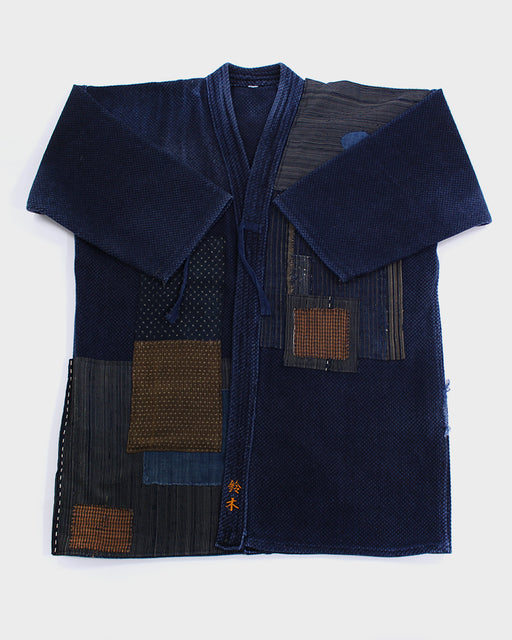 Patched Kendo Jacket with Shima, 16 (M)