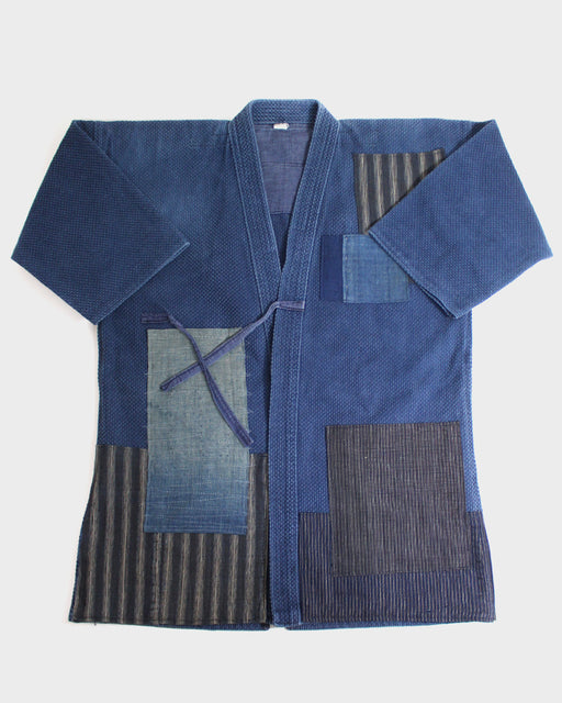 Patched Kendo Jacket, Indigo Boro Patched