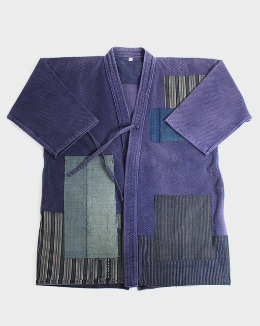 Patched Kendo Jacket, Indigo Boro Patched with Shibori