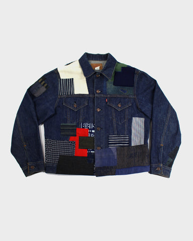One of a Kind Boro Patched Levi's Denim Jacket