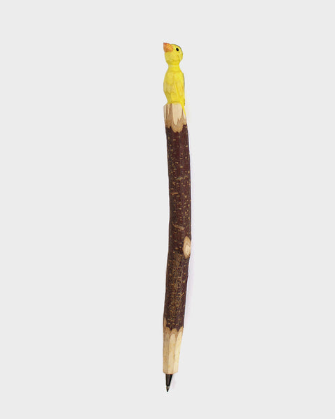 Wooden Gold Finch Pen