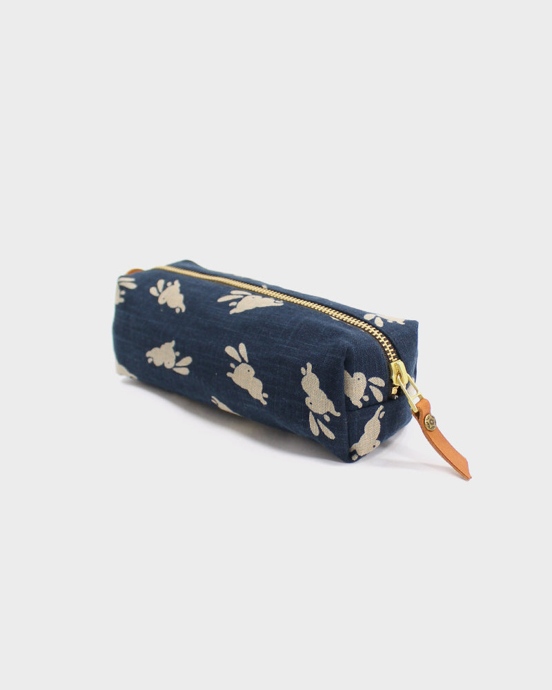 Pencil Pouch, Indigo Usagi