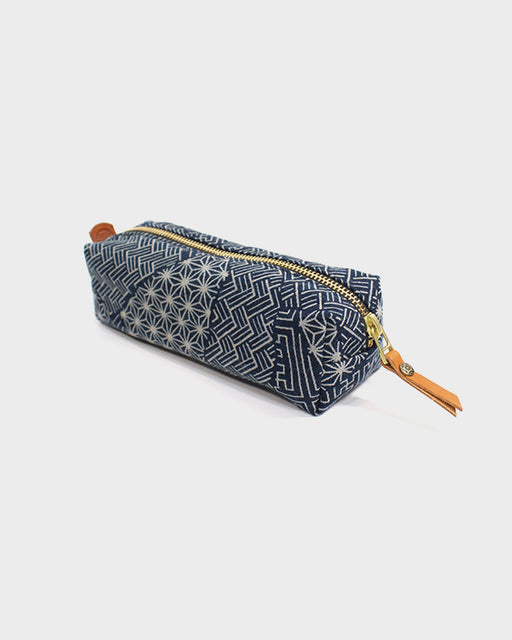Pencil Pouch, Indigo Multi