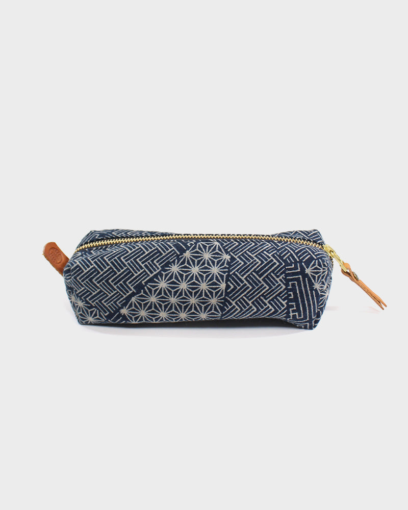 Pencil Pouch, Indigo Small Multi
