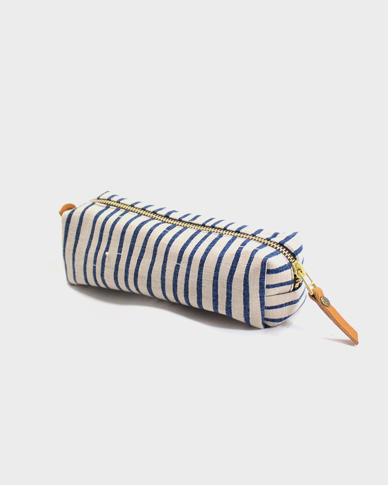 Pencil Pouch, Cream and Ingido, Shima