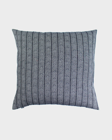 Pillow Grey and White Kasuri