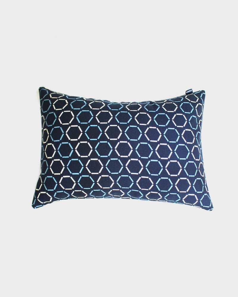 Wool Fabric Pillow, Blue Kikko
