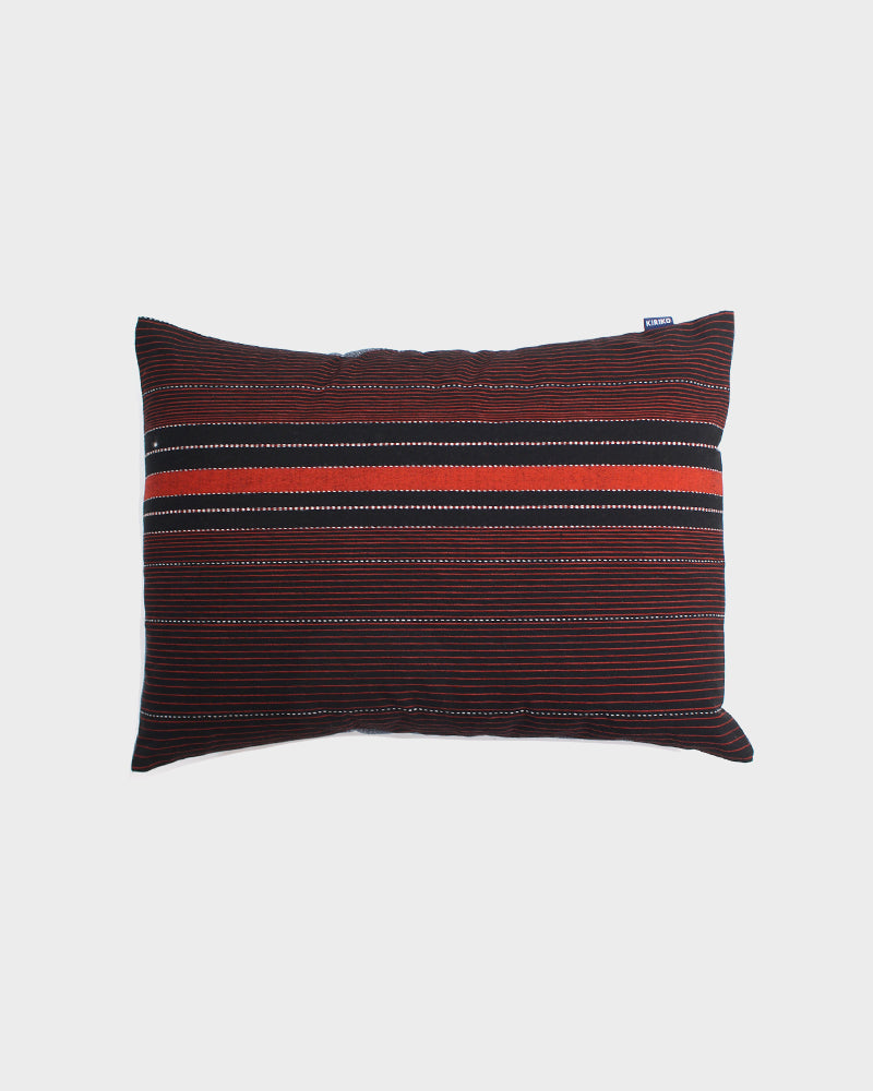 Orange and Black Shima Pillow