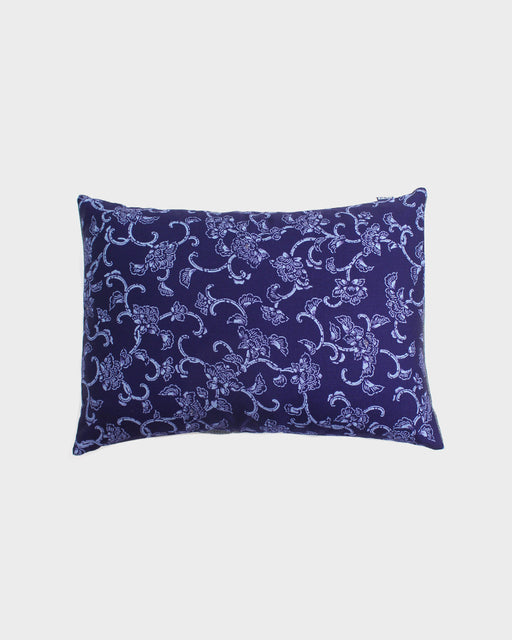 Blue Floral Karakusa Pillow