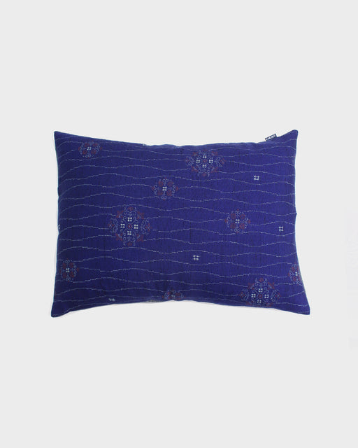 Blue Tachiwaku & Floral Pillow