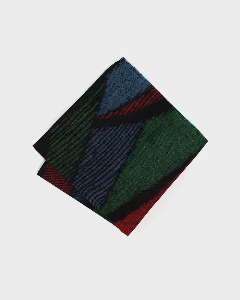 Pocket Square, Blue, Red and Green Abstract Print