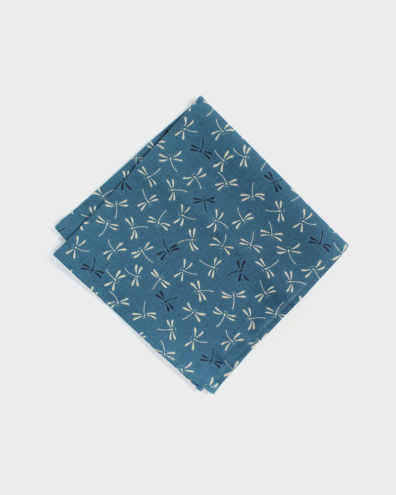 Pocket Square, Teal Tonbo