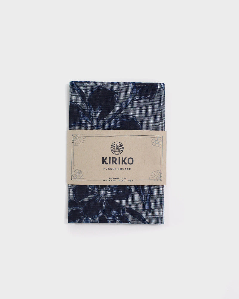 Pocket Square, Grey Floral