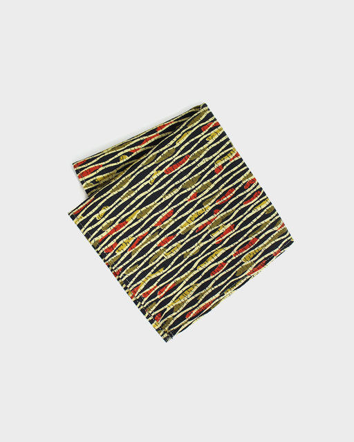 Pocket Square, Tachiwaku Tan, Green and Red