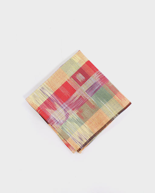 Pocket Square, Yellow, Red and Green Plaid